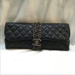 Chanel clutch black bag